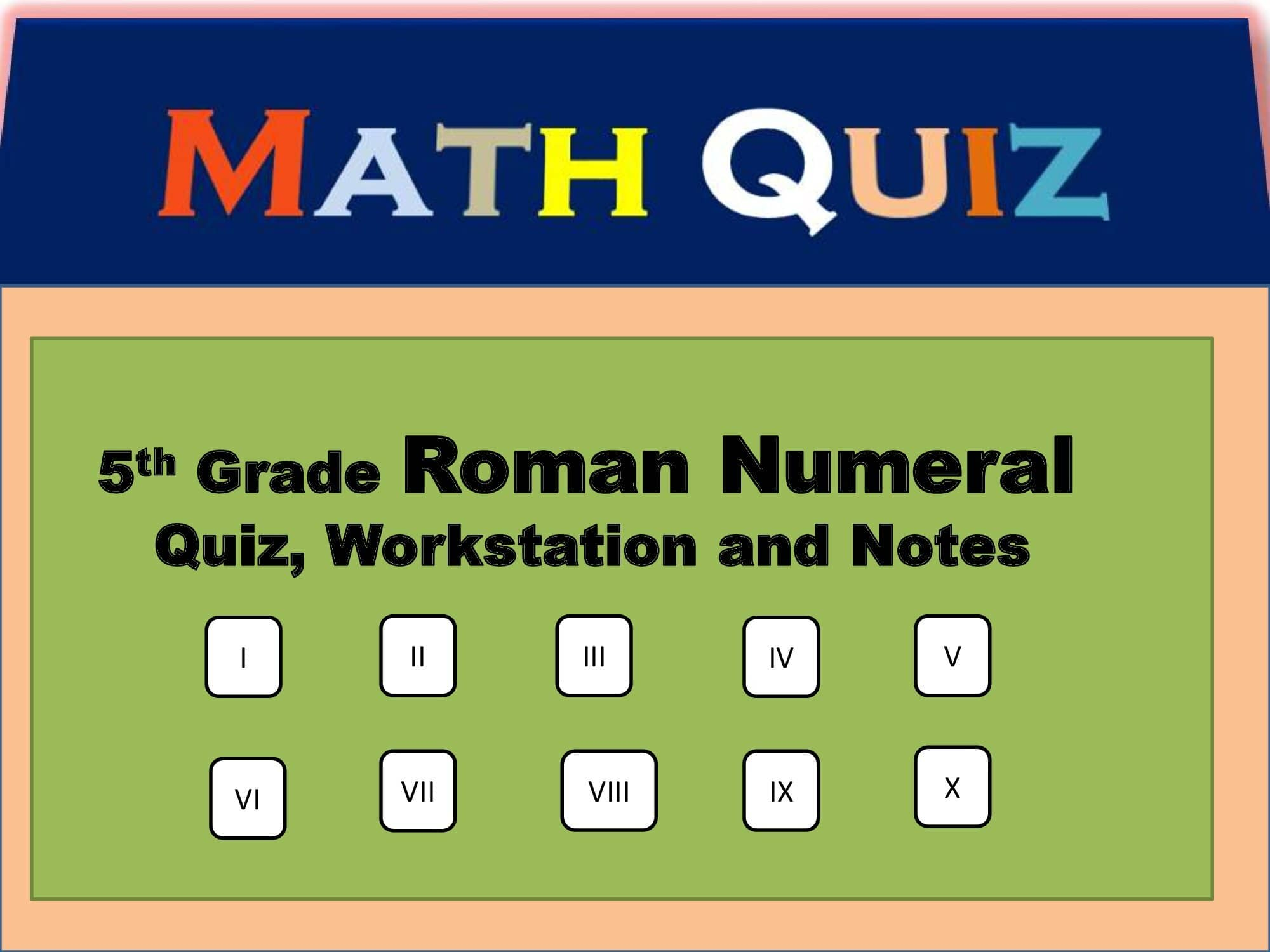 CBSC 5th Class Mathematics Roman Numerals | Roman Numeral Notes