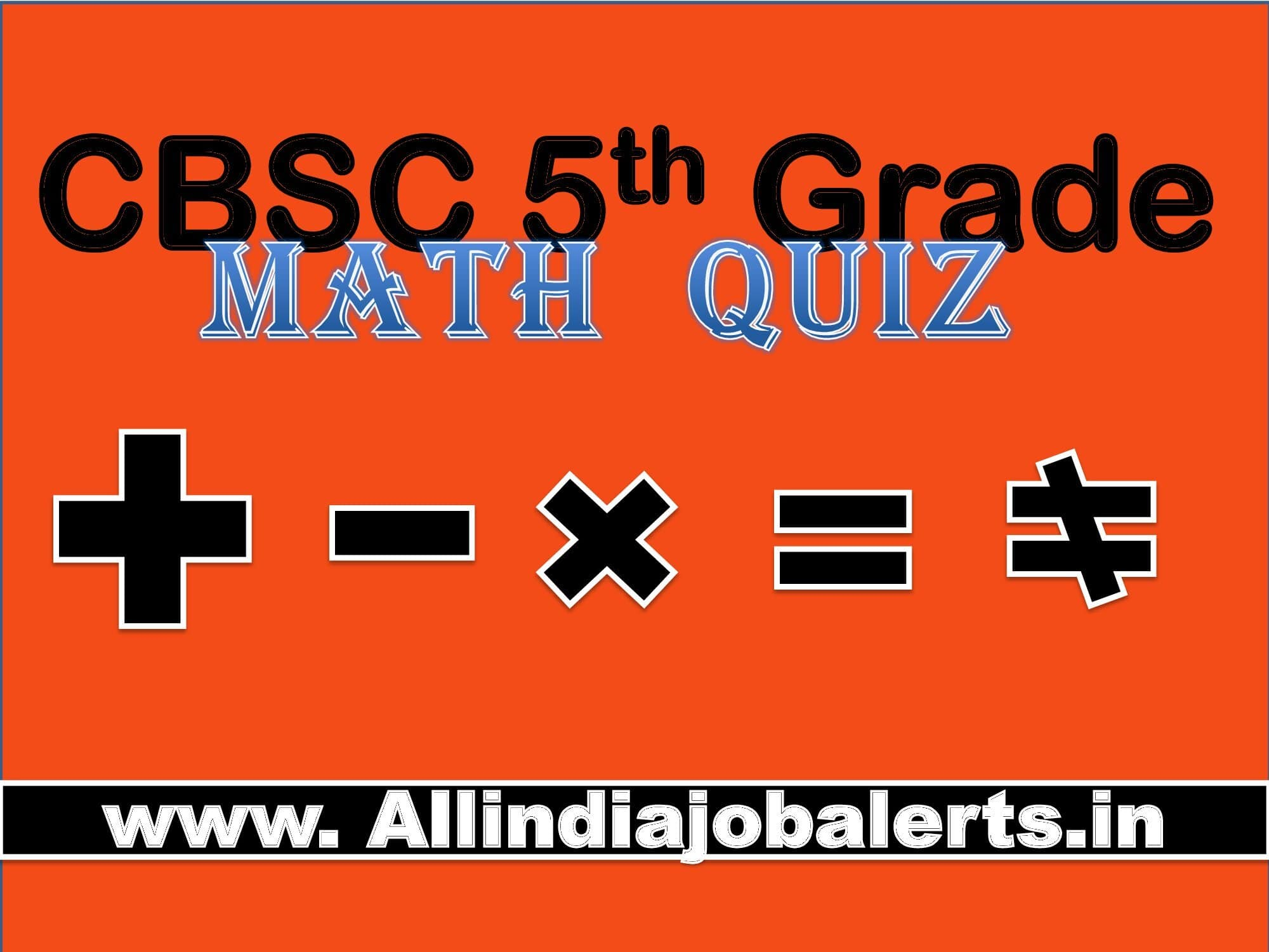 5th Grade Large Number Quiz, Large Numbers Quiz 4th and 5th Standard