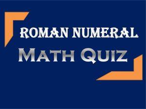5th Grader Roman Numeral
