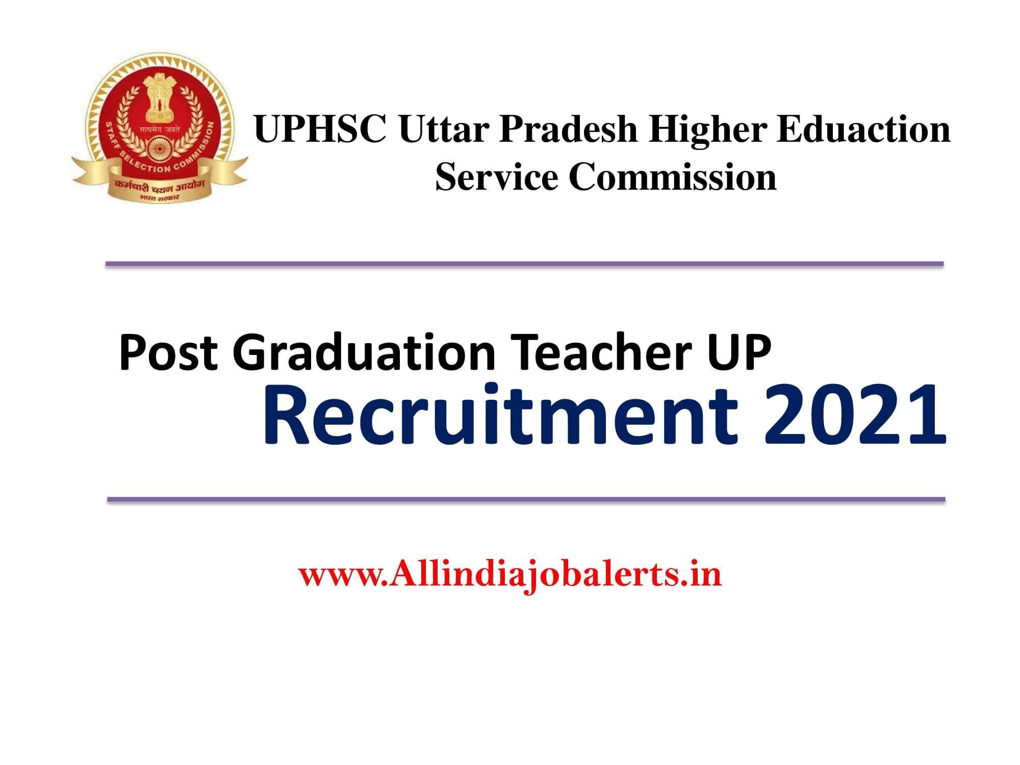 UPHESC Assistant Professor Recruitment 2021