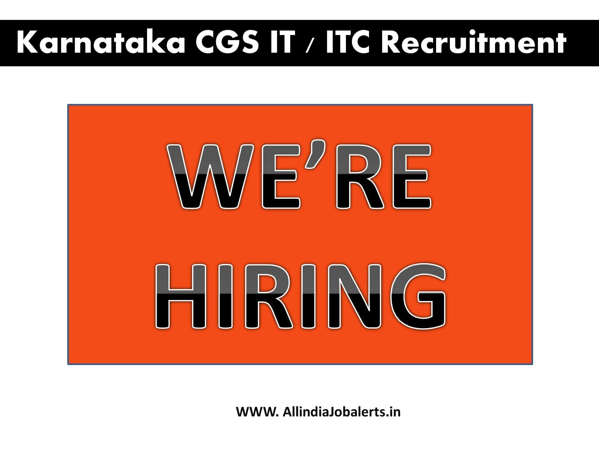 Karnataka CGS IT/ITC infotech