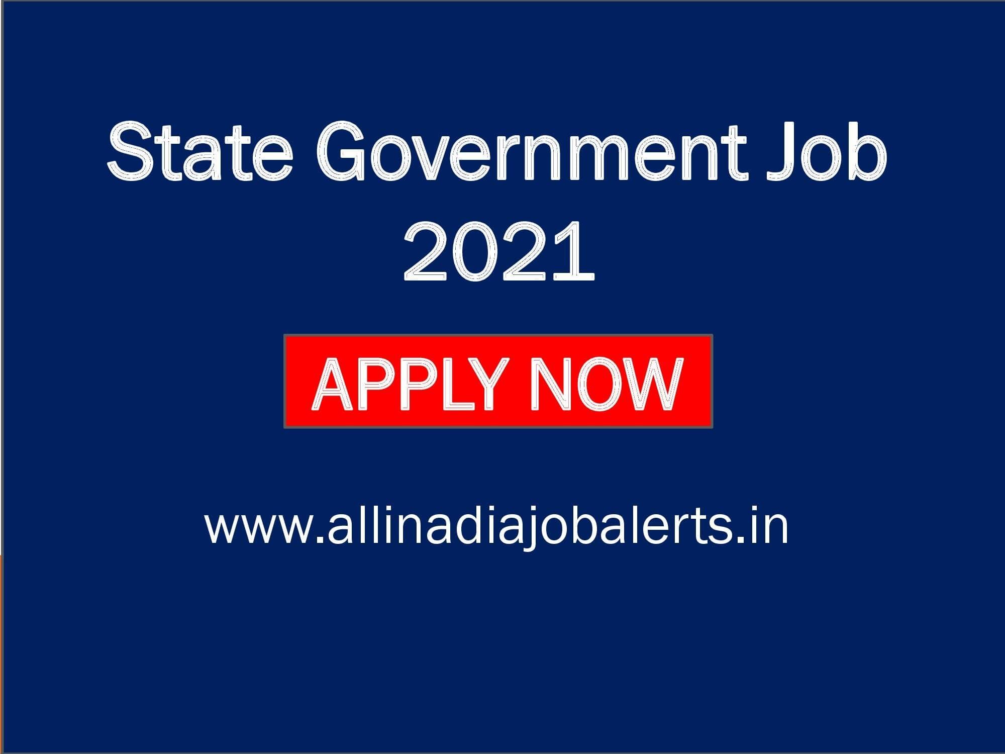 Govt Jobs Bangalore, State Govt Job 2021