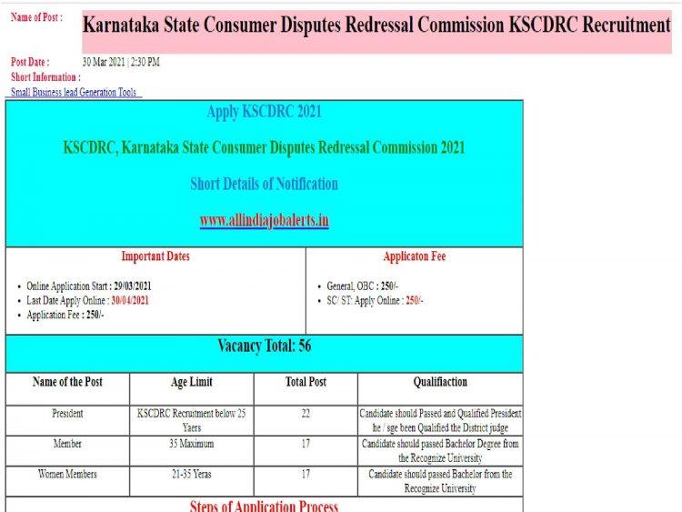 Karnataka KSCDRC Recruitment