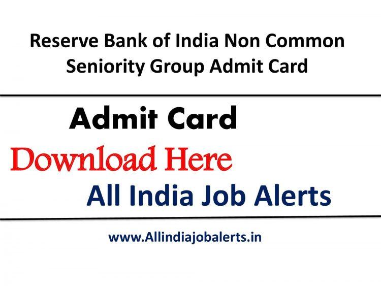RBI Group B Admit Card