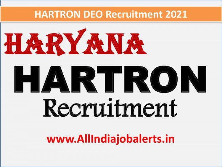 HARTRON DEO Haryana Recruitment 2021