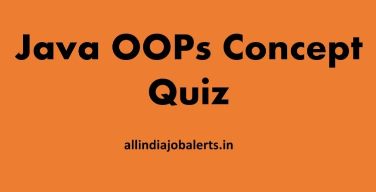 Java OOPs Concept Quiz